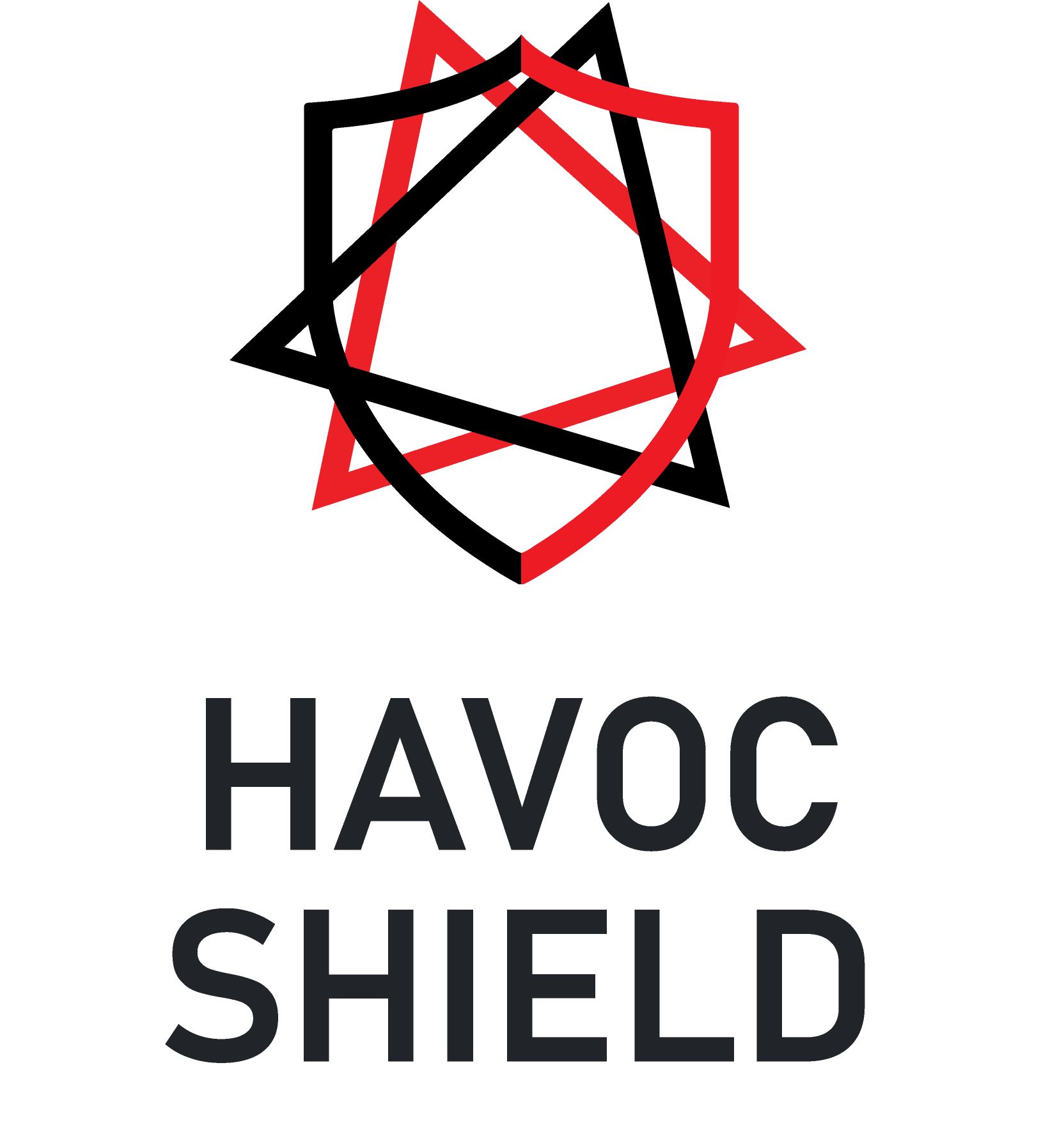 havoc shield logo - shield on top - no gradient